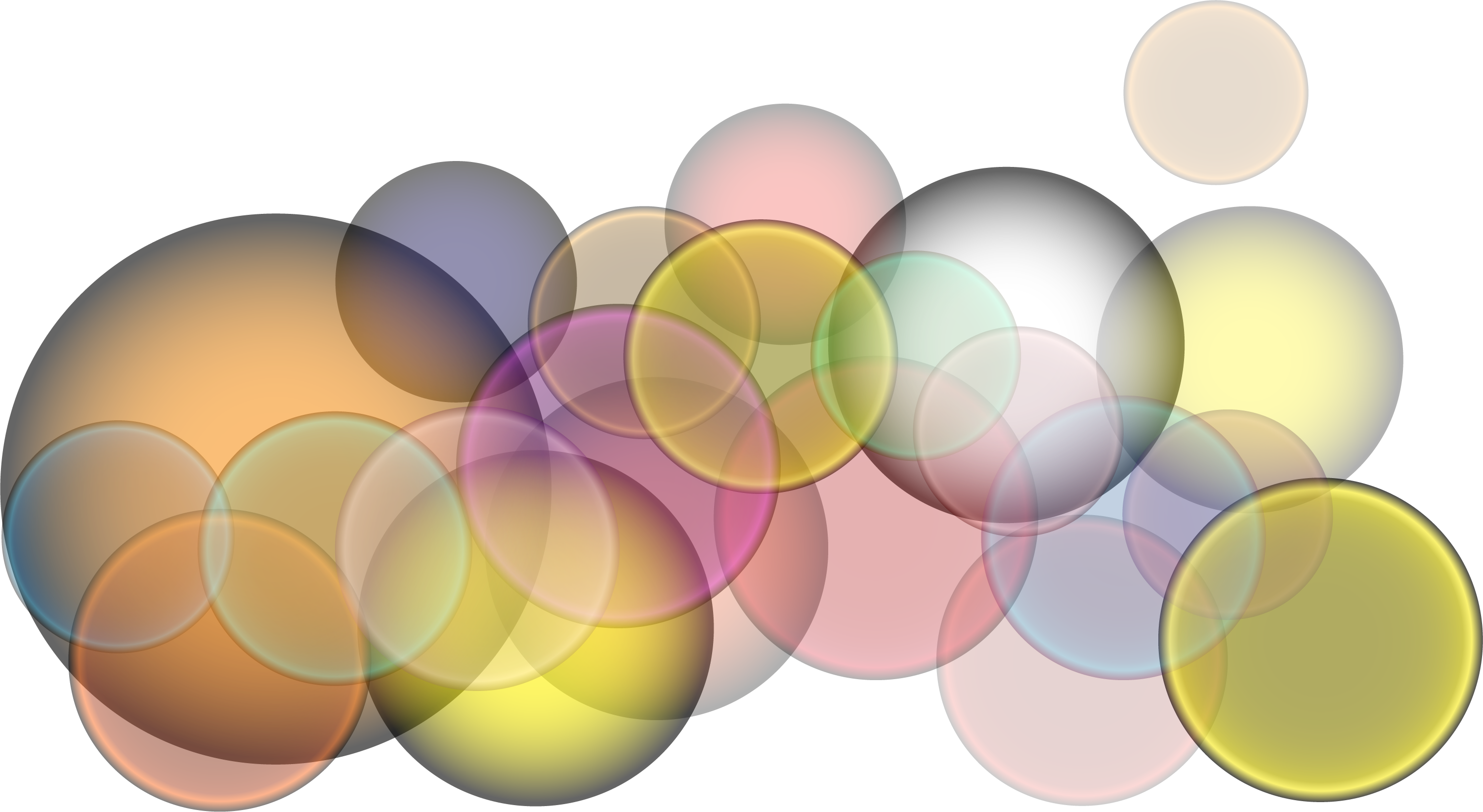 black and white library Vector color bubble.  colorful for free