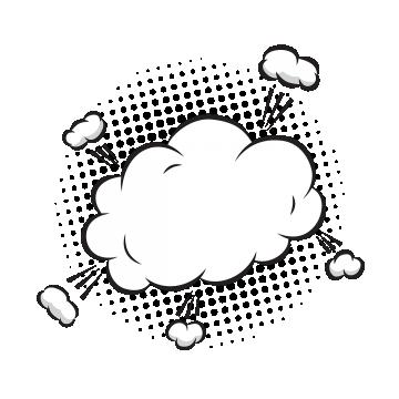 clip art transparent Vector bubble comic book. Speech png psd and
