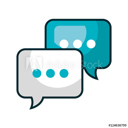 jpg black and white stock Vector bubble communication. Speech isolated icon
