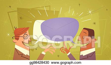 png library download Vector bubble communication. Art two businessman talking