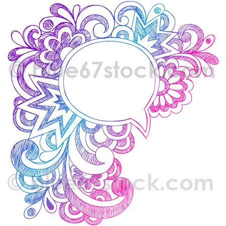 clipart transparent Vector bubble funky. Comic speech hand drawn
