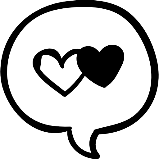 clipart transparent stock Speech with two hearts. Vector bubble heart