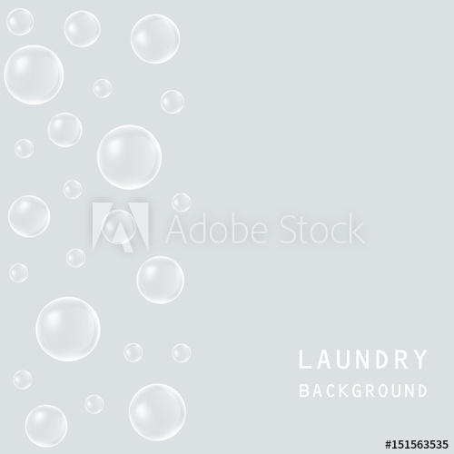 svg free download Gray background with bubbles. Vector bubble laundry