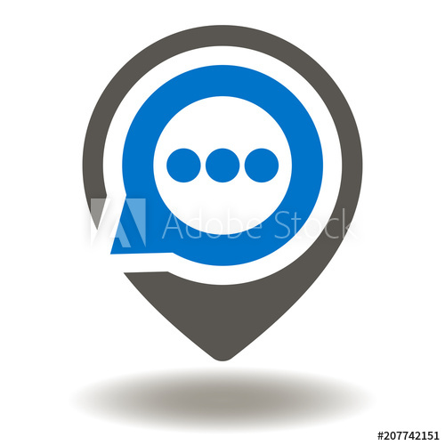 picture library download Vector bubble location. Map marker with speech