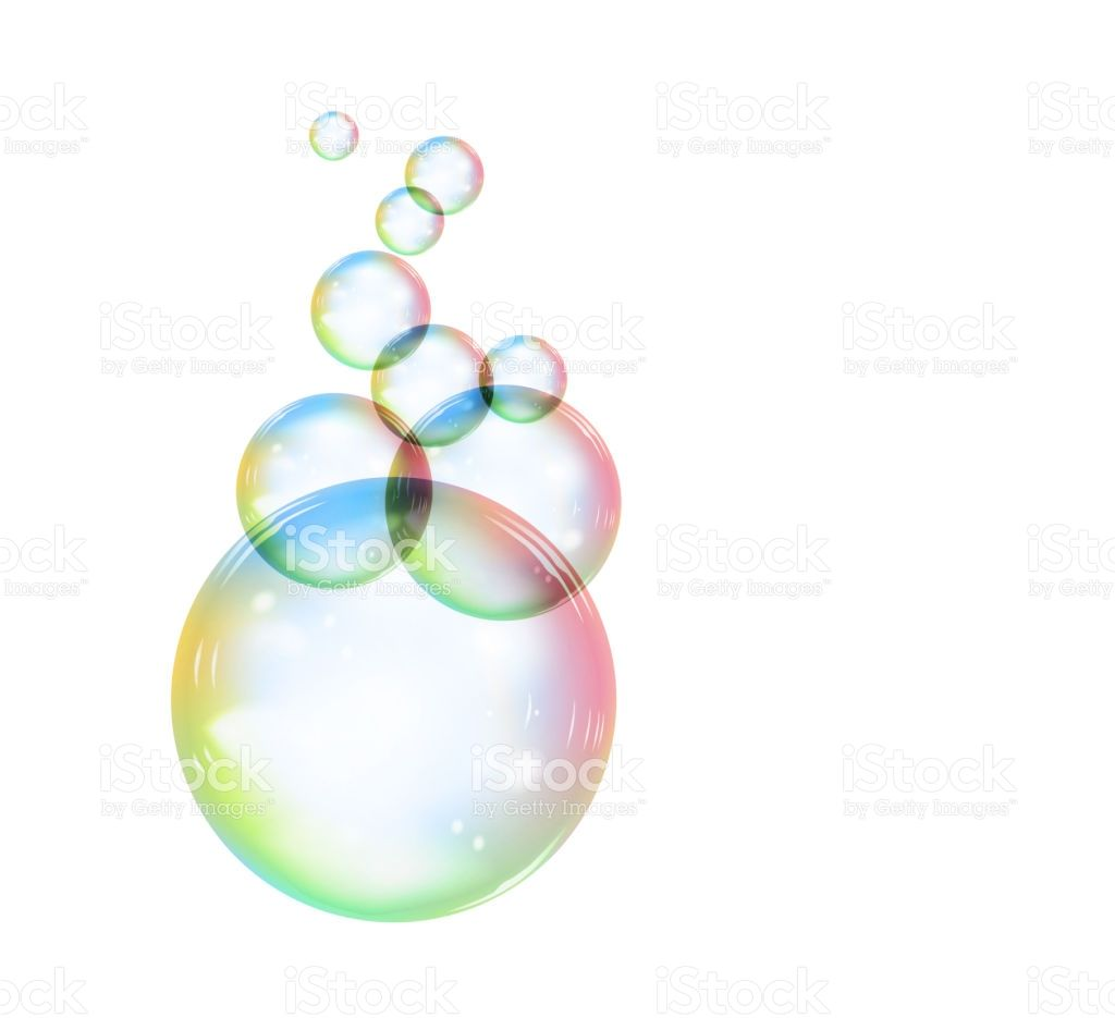 image freeuse library Vector bubble rainbow. Soap on a white