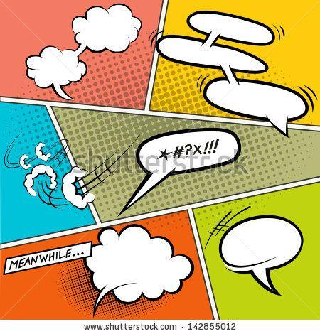 clip art library stock Vector bubble retro. Comic speech bubbles illustration