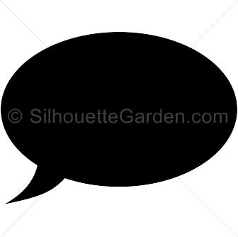 vector black and white Speech . Vector bubble silhouette