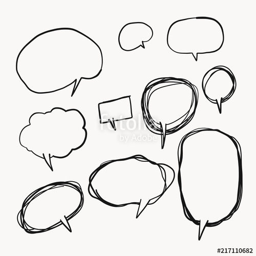 clip royalty free stock Hand drawn set of. Vector bubble simple