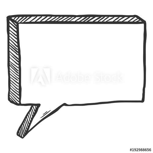 graphic stock Sketch comics speech comix. Vector bubble single