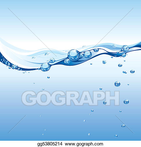 vector royalty free download Art water with bubbles. Vector bubble wave