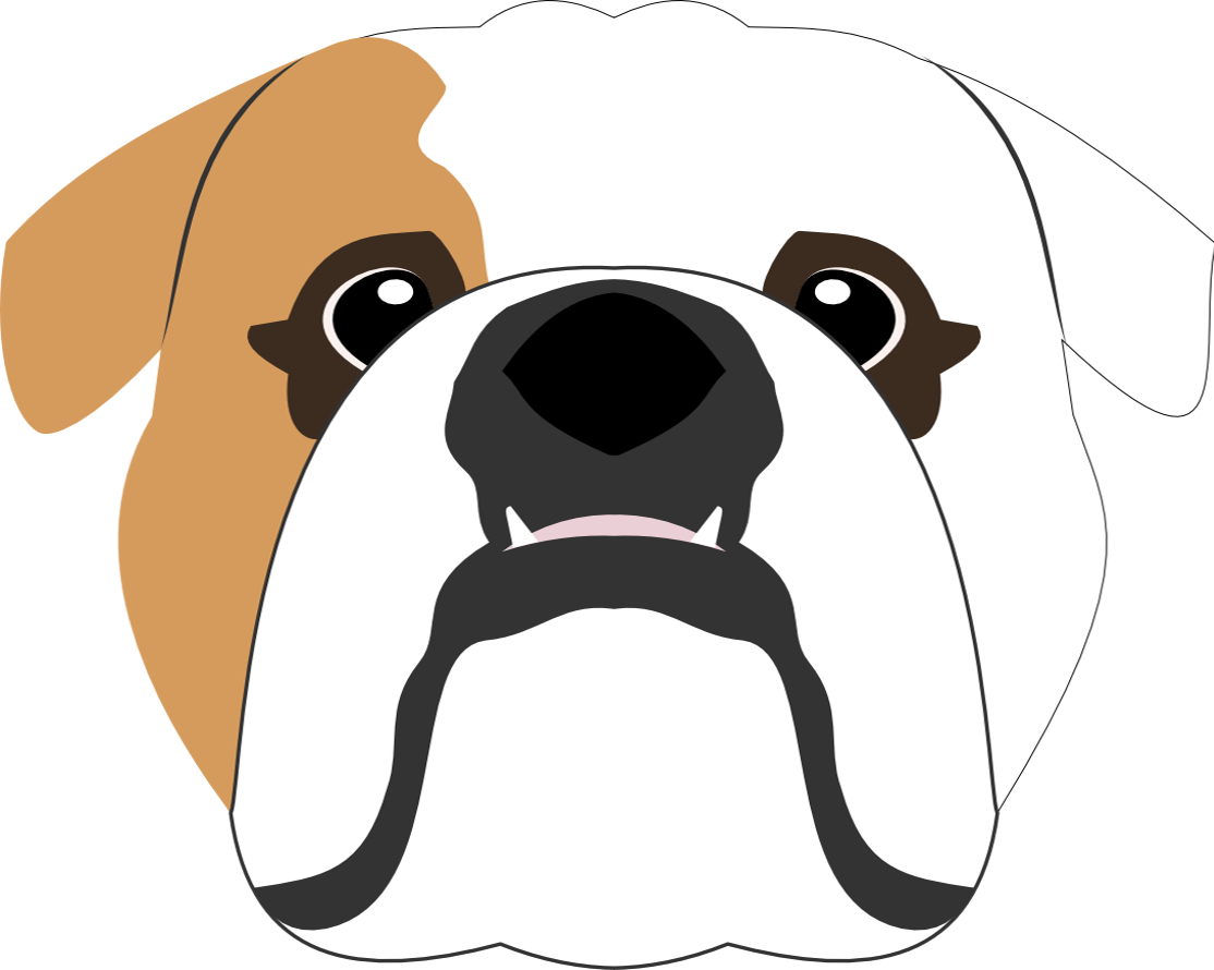 image black and white Vector bulldog american. English design dogart pinterest