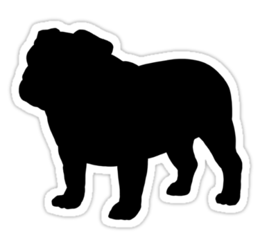 picture library library Silhouette images at getdrawings. Vector bulldog american