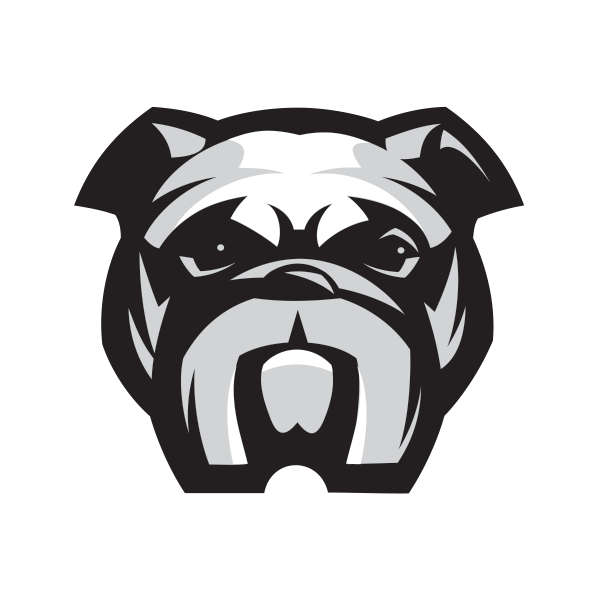 png transparent download Printed vinyl head stickers. Vector bulldog bad dog