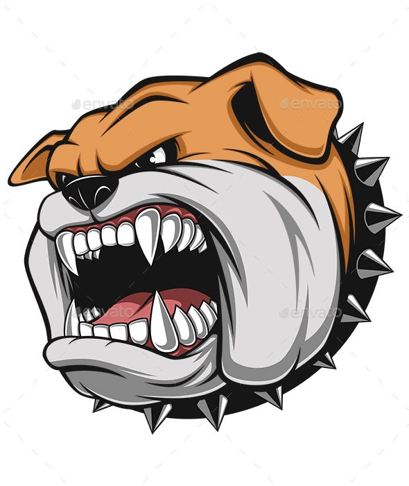 picture royalty free stock Angry characters creatures . Vector bulldog bad dog