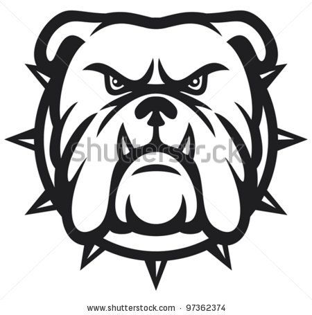 image transparent download Vector bulldog black and white. Stock head angry