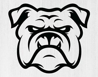 image free stock Vector bulldog bloom carroll. Bulldogs etsy