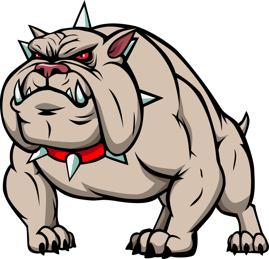 jpg library Vector bulldog cartoon. Clip art dog transprent