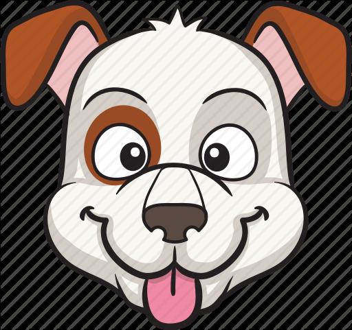 clip art stock Dog cartoon emojis by. Vector bulldog emoji