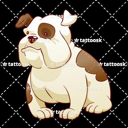 jpg freeuse Clipart cartoon cute borders. Vector bulldog emoji