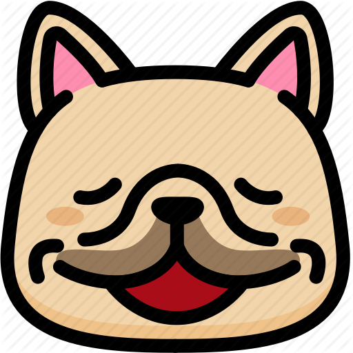 jpg transparent Vector bulldog emoji. Frenchie emoticons by aomam