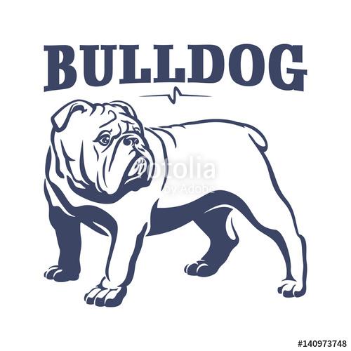 clip art royalty free British mascot emblem illustration. Vector bulldog english