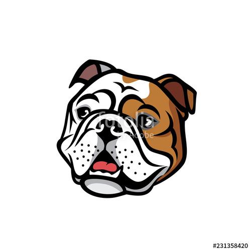 banner free library Vector bulldog english. Face stock image and