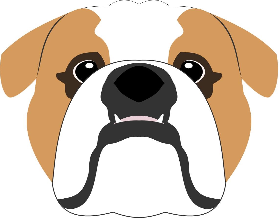 graphic freeuse library Vector bulldog english. Bubbles the pillow red