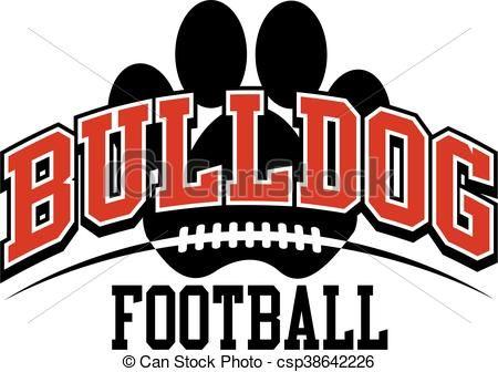 svg stock Stock illustration royalty free. Vector bulldog football