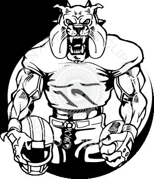 png free download Vector bulldog football. Rottweiler clip art for