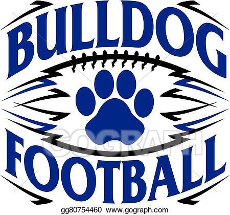 banner free stock Vector bulldog football. Eps stock clipart illustration