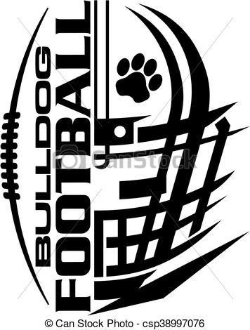 svg stock Vector bulldog football. Stock illustration royalty free