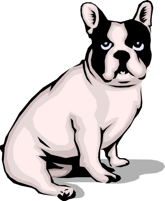 clip art black and white download Vector bulldog french. Puppy dog image illustration