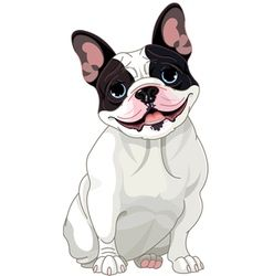 clip free stock French clipart dog art. Vector bulldog frenchie