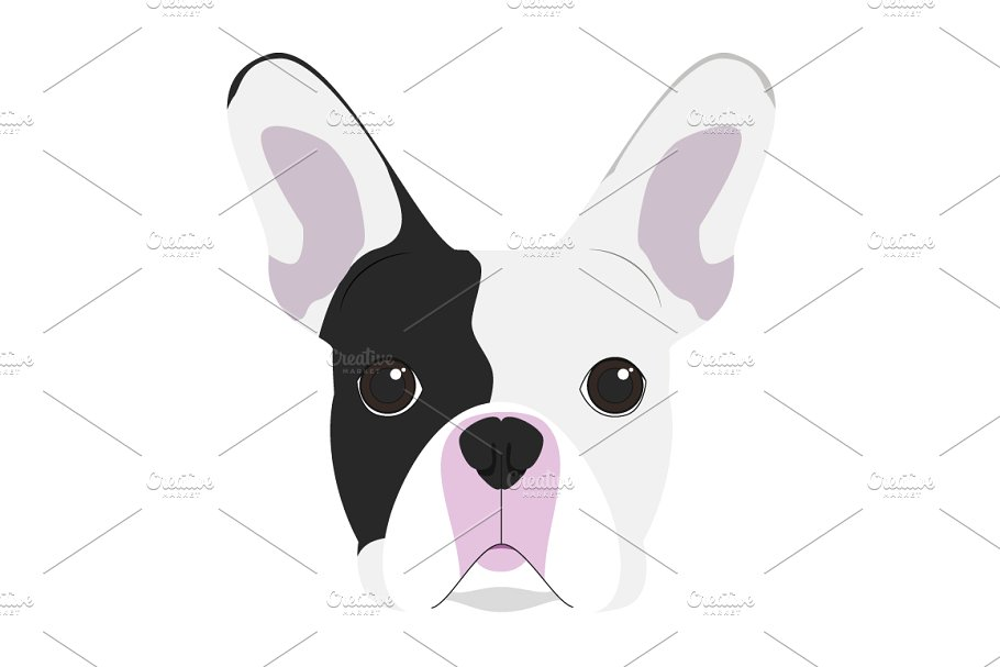 vector freeuse download Vector bulldog frenchie. French illustration illustrations