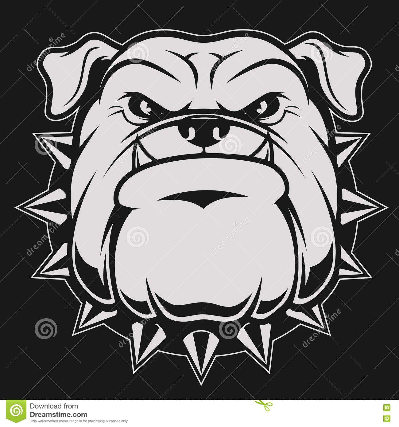 vector free library Vector bulldog head. Photo about illustration ferocious