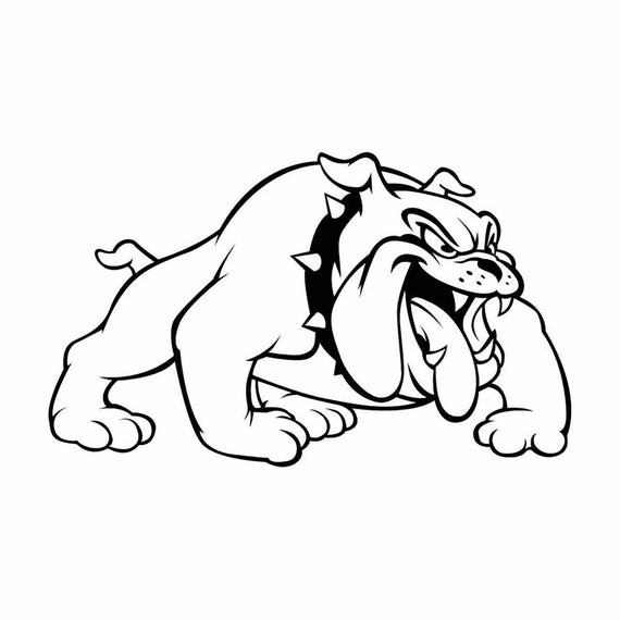 clip art black and white download Vector bulldog mascot. Instant download eps dxf