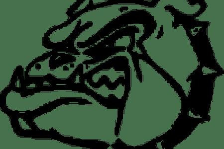 png black and white download Vector bulldog mascot. Download wallpaper football clipart
