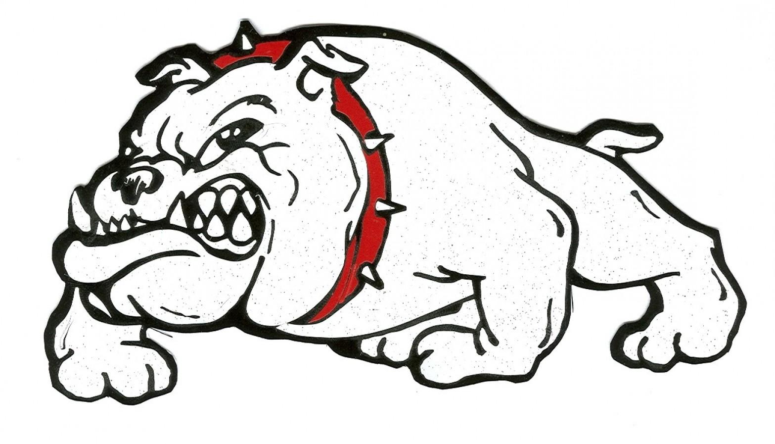 freeuse library Vector bulldog mascot. Clipart new ga uga