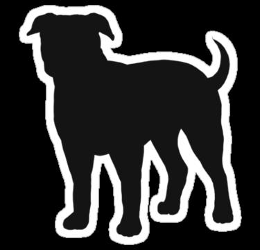 clip art black and white Vector bulldog silhouette. American s sticker by