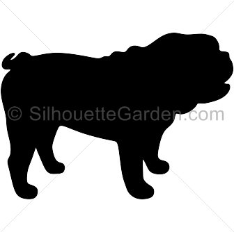 png royalty free Black clip bulldog. Silhouette art download free