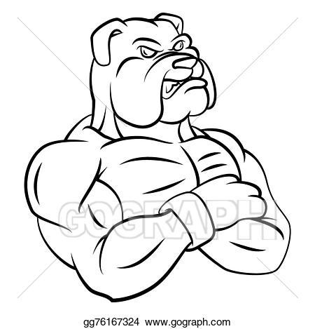 banner royalty free library Vector bulldog strong. Illustration mascot eps clipart