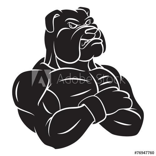 svg library stock Vector bulldog strong. Mascot tattoo buy this