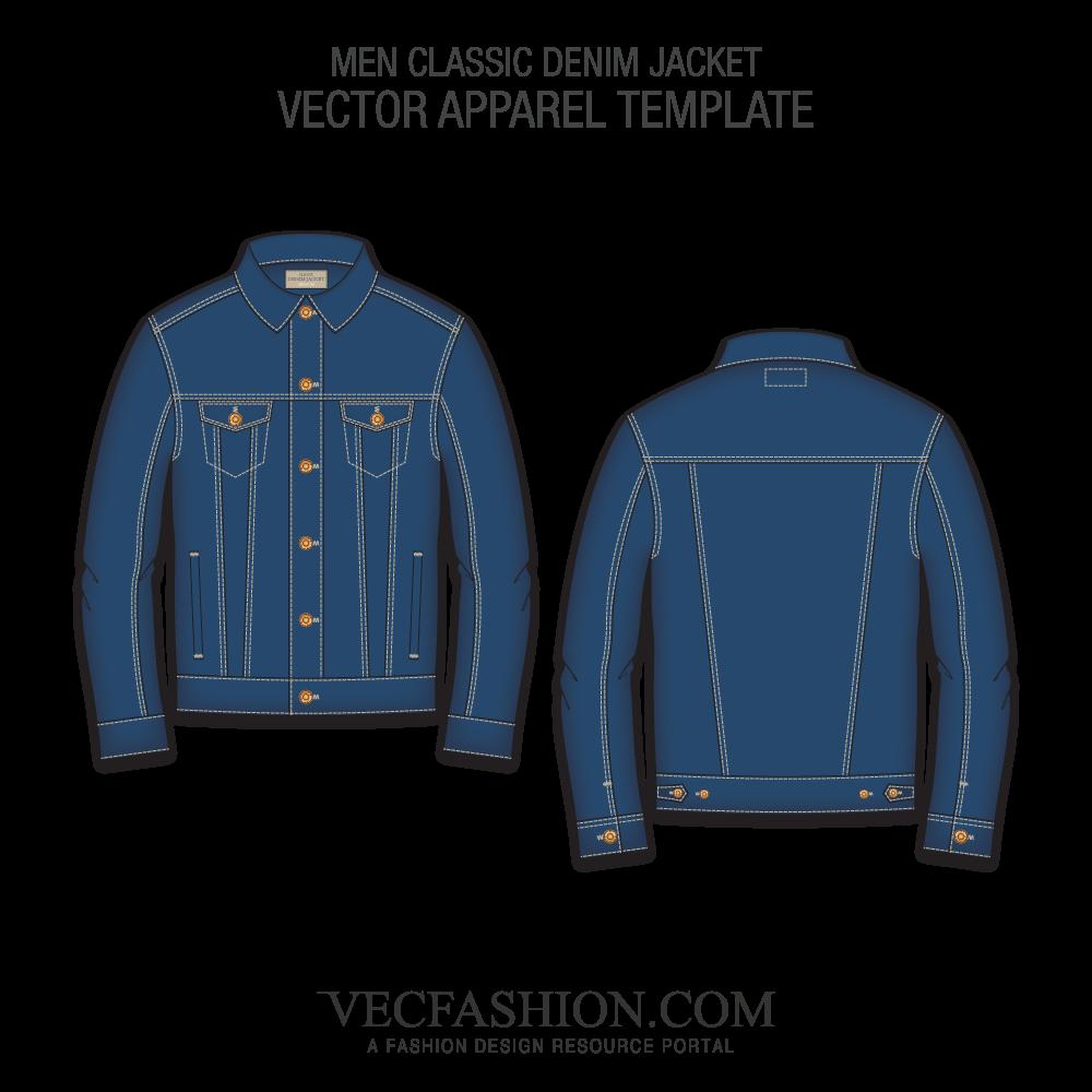 vector library library Men Classic Denim Jacket
