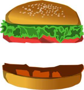 png free library Vector burger. With space clip art