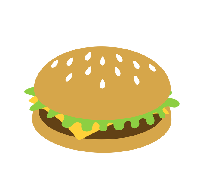 clip art transparent stock Cartoon Burger