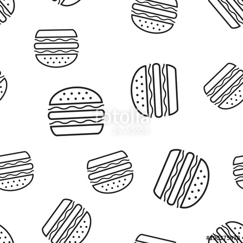 png freeuse Burger fast food seamless pattern background