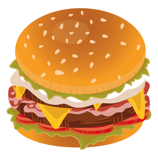 jpg freeuse download Cheeseburger icon transparent png. Vector burger bacon