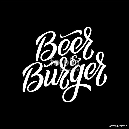 picture royalty free library And pub emblem illustration. Vector burger beer