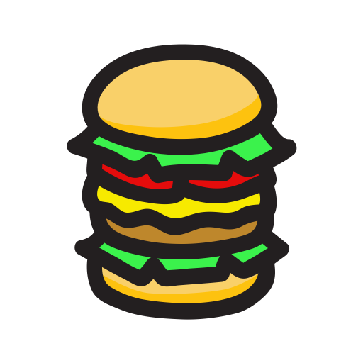 vector transparent download Cartoon snack by w. Vector burger big mac