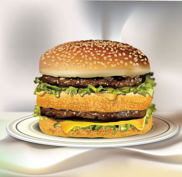 picture transparent download Vector burger big mac. Drawing of my style